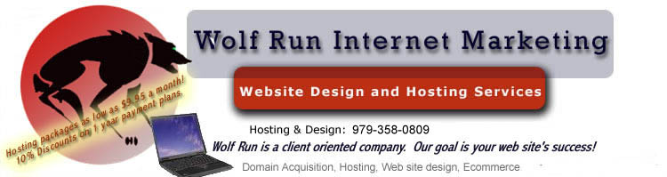 Wolf Run Internet Marketing Designs and Hosts Websites